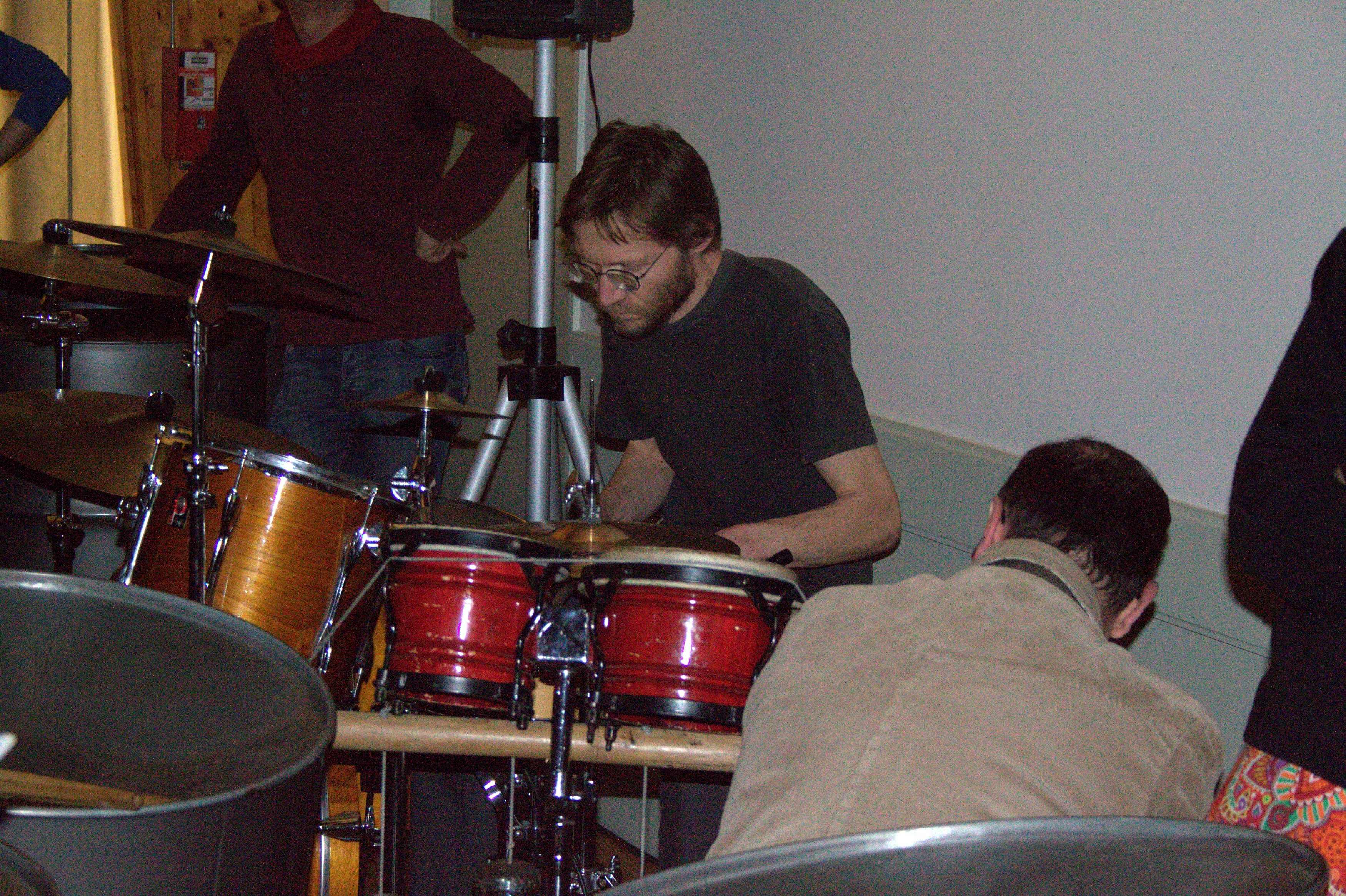 Olivier à la batterie